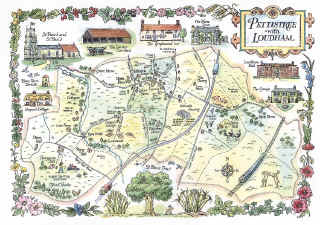 Pettistree pictorial map
